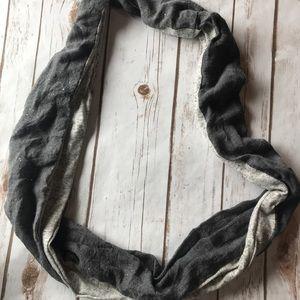 Infinity sparkle gray scarf